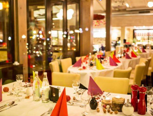 Restaurant bei der Rothof Weihnachtsfeier